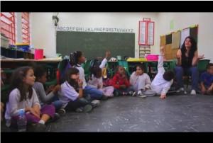 Cena do documentário que está sendo produzido no Amorim Lima com os alunos do primeiro ano matutino