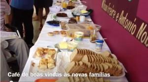 Mesa do Café da Manhã de Boas Vindas 2012 no Amorim Lima